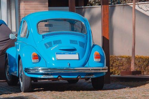 Ingyenes stockfotó carro, carro azul, fusca témában