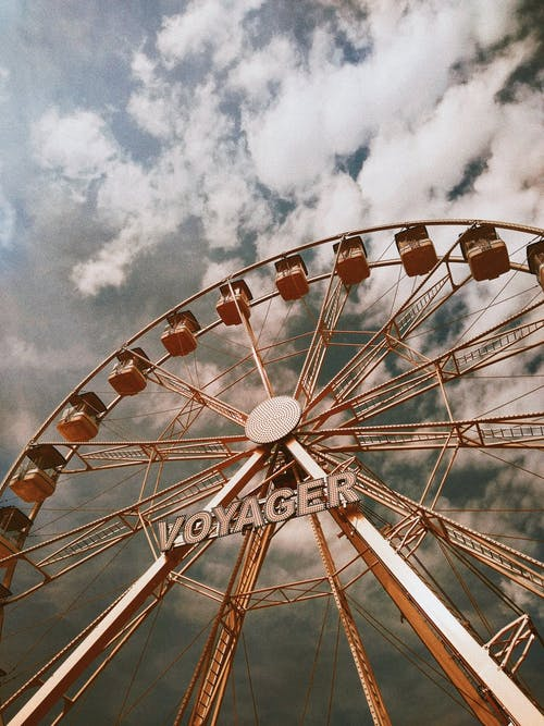 Photo Of Ferris Wheel Under Cloudy Sky