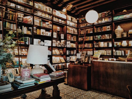Free stock photo of books, library, places