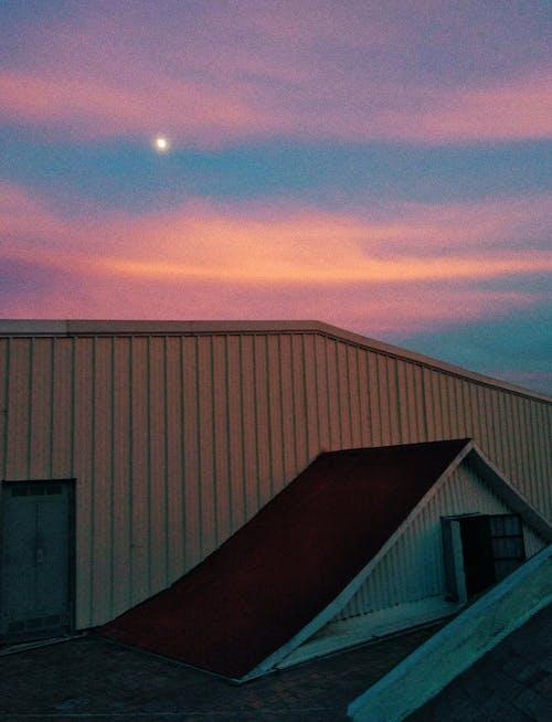 Free stock photo of beautiful sky, moon, pink
