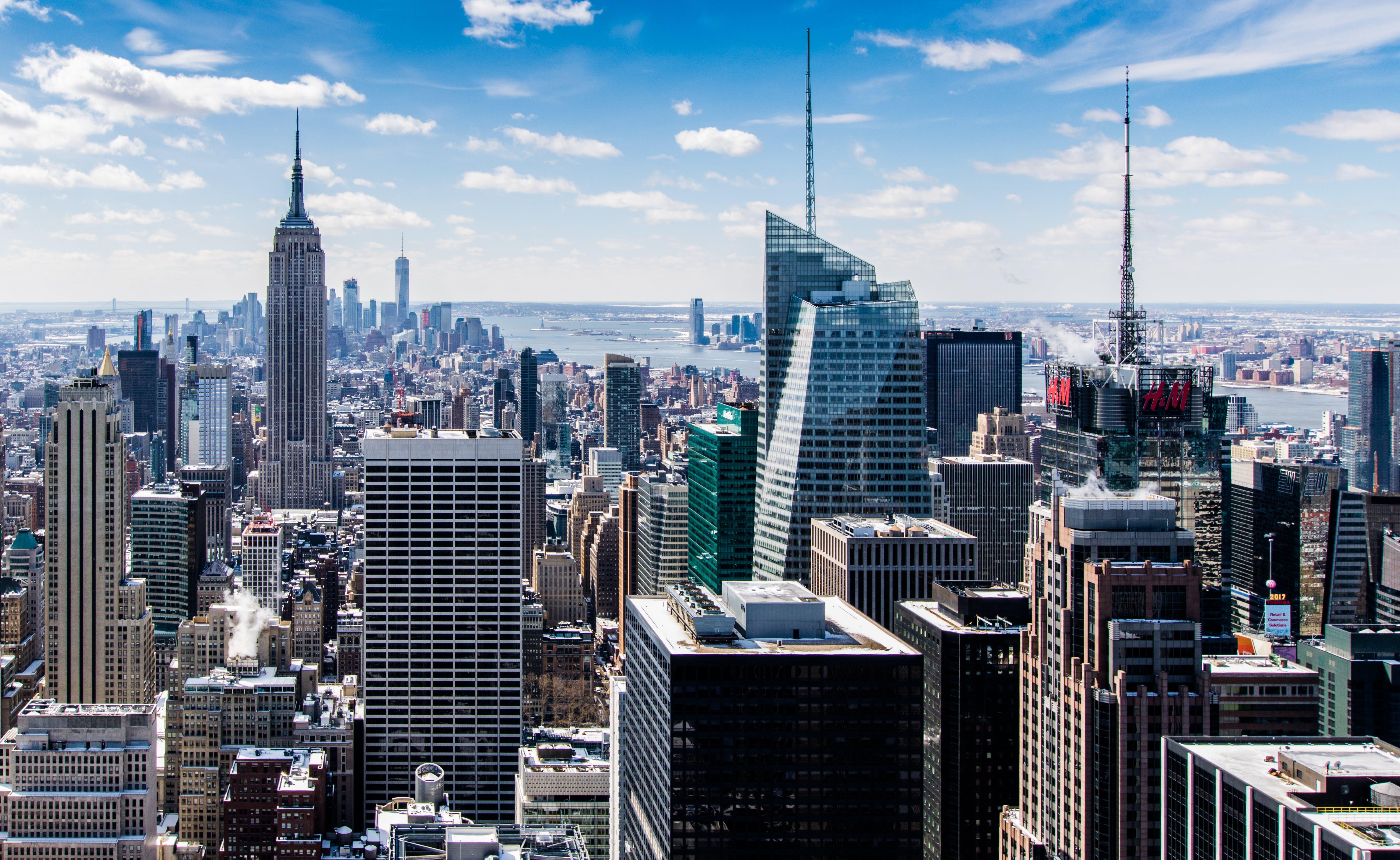 Birds Eye Photography of High-rise Building City