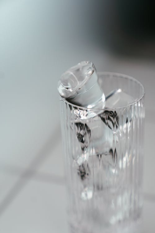 Clear Drinking Glass With Water