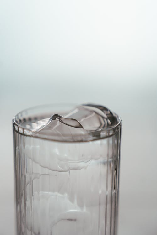 Clear Drinking Glass With Ice