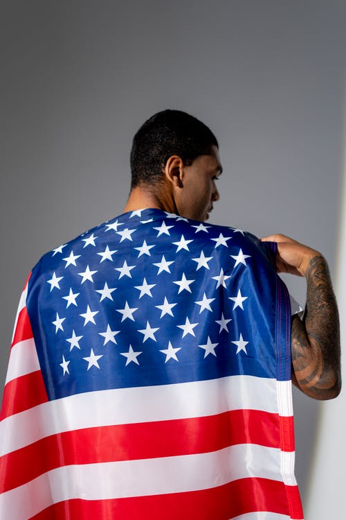 Man With the American Flag