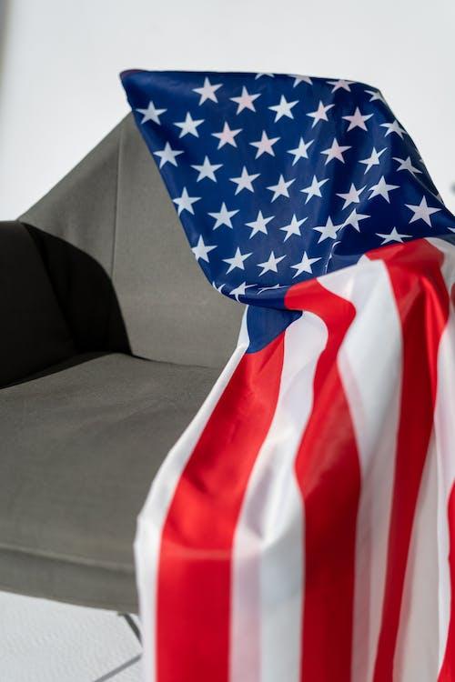 American Flag on an Armchair