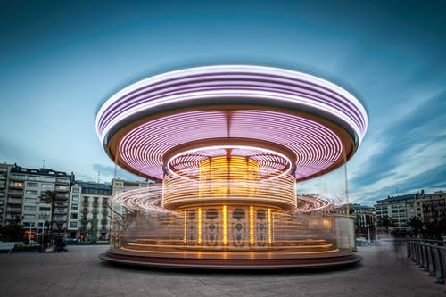 Long Exposure Photography of a Carousel