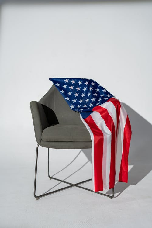 American Flag on an Armchair