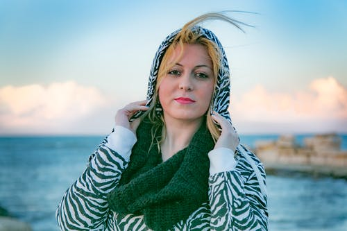 Photo Of Woman Wearing Zebra Print Jacket