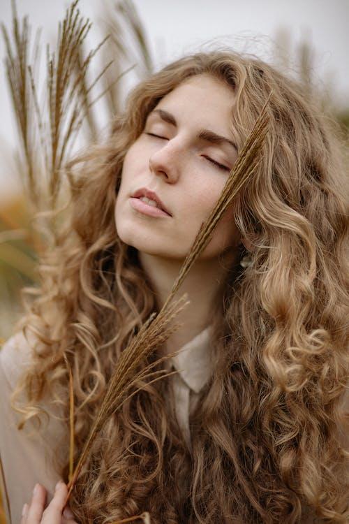 Portrait Photo Of Woman On Wheat Fields