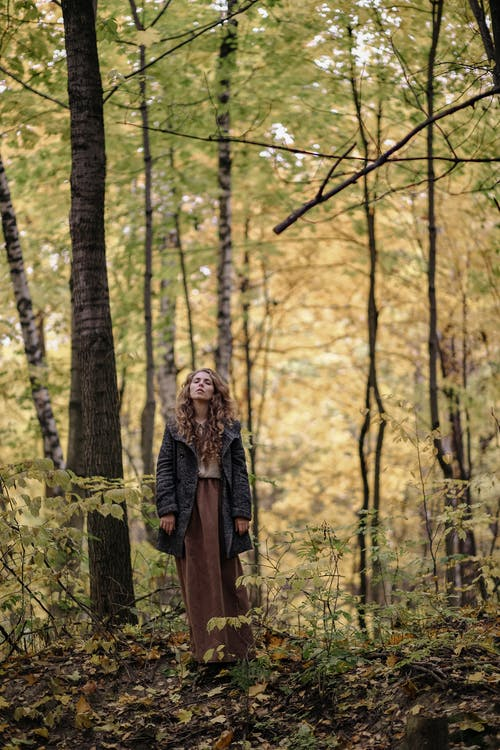 Photo Of Woman Standing In Forest