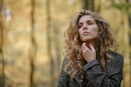 Photo Of Woman Wearing Grey Coat