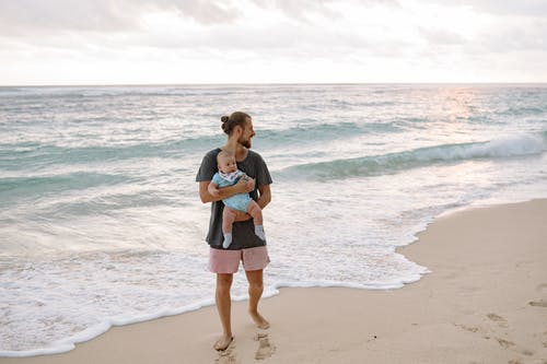 Father and Baby at the Beach