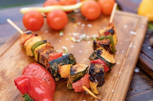 Close-Up Photo Of Skewers