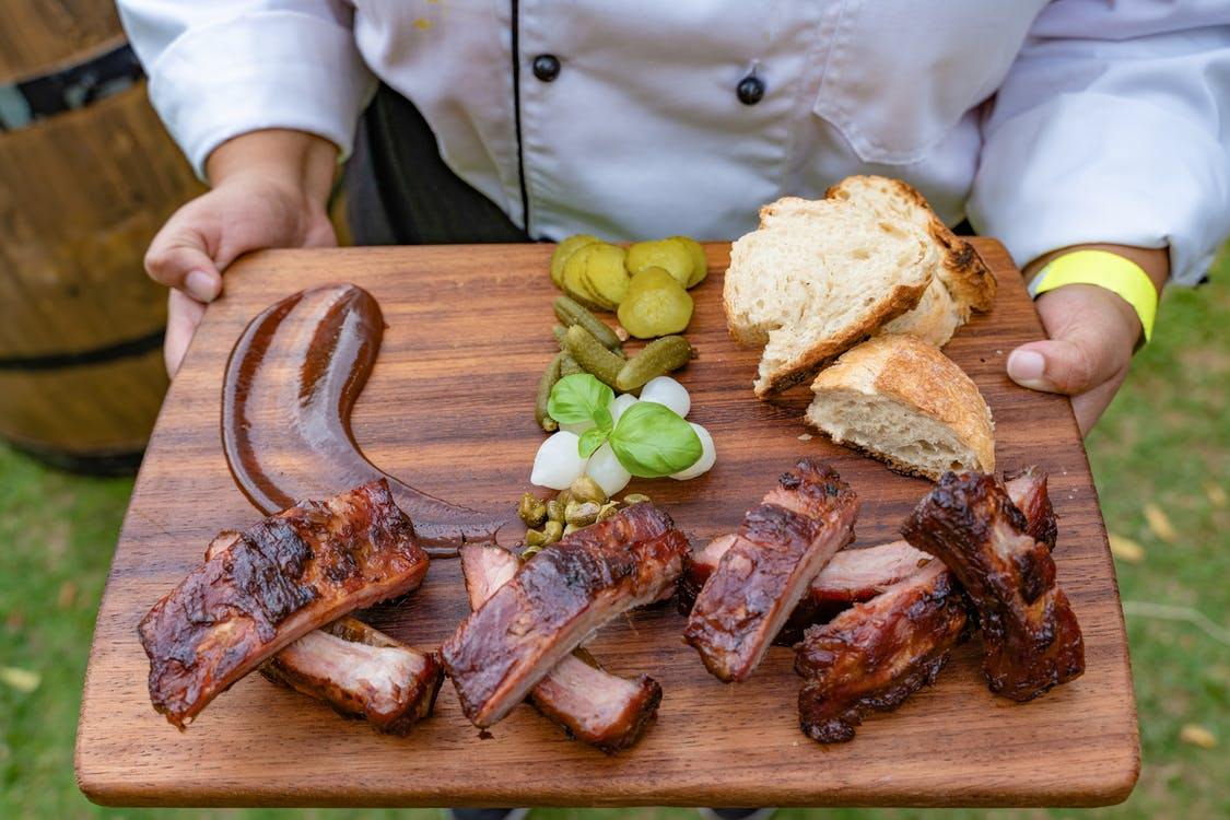 Photo Of Grilled Meat On Wooden Chopping Board