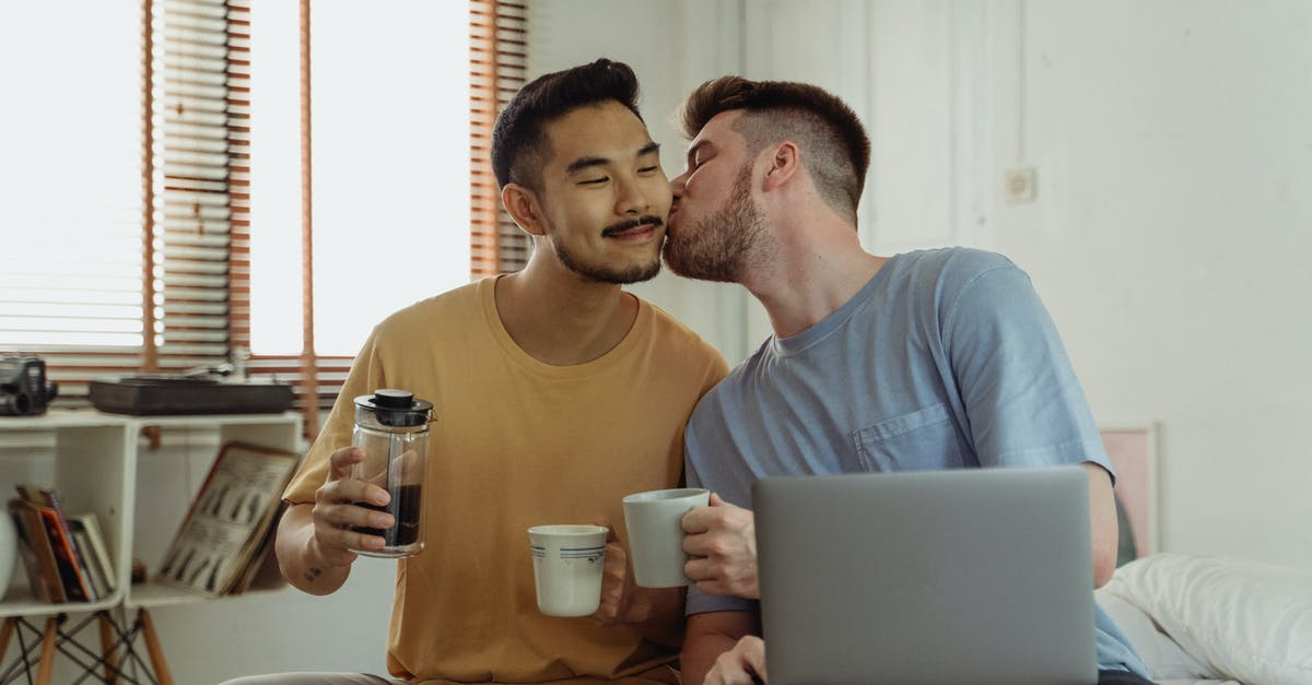 Man Kissing Another Man on the Cheek · Free Stock Photo