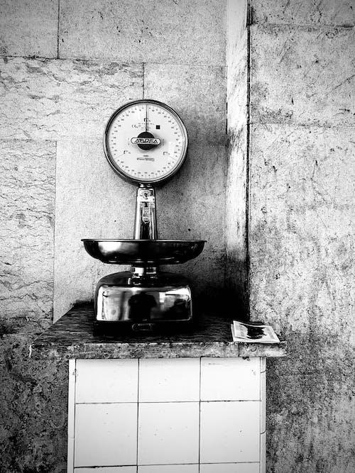 Free stock photo of balance scale, market, monochromatic