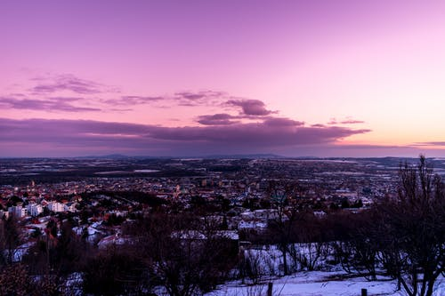 Free stock photo of cityscape, purple, skyline, sunset