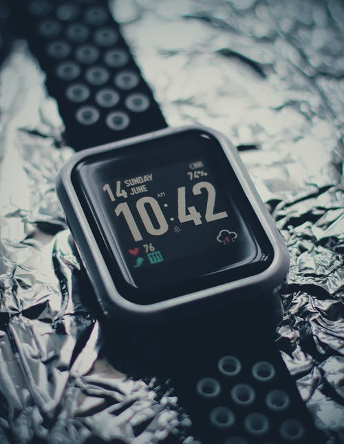 Black and Silver Apple Watch