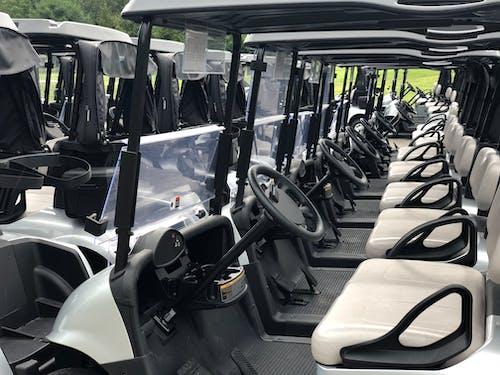 Free stock photo of golf carts