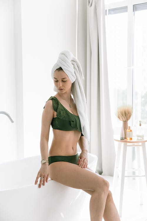 Photo Of Woman Wearing Green Lingerie