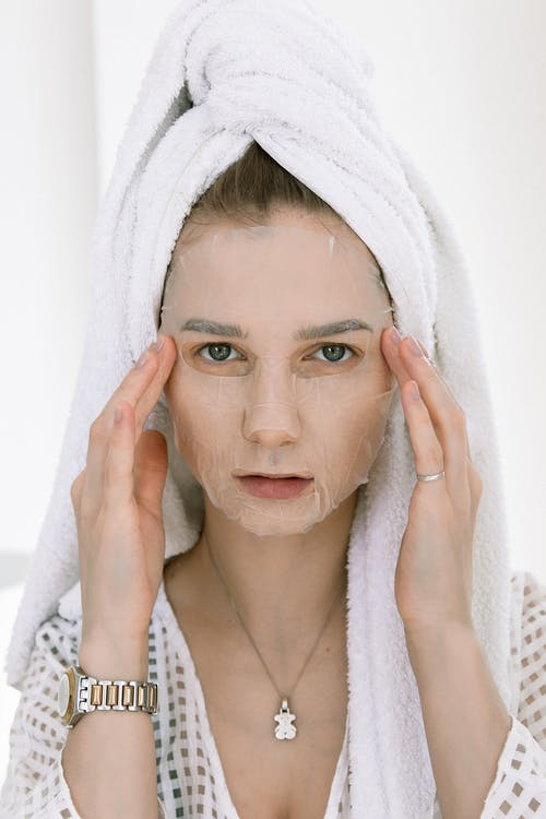 Portrait Photo Of Woman Wearing Facial Mask