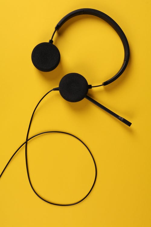 Close-Up Photo Of Headset