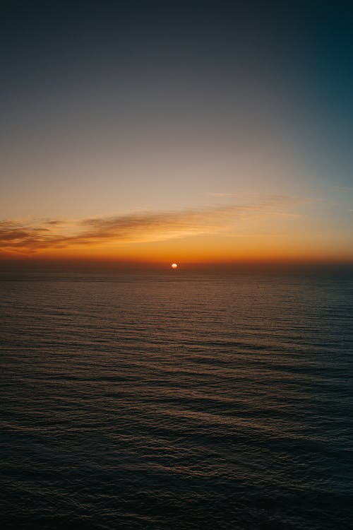 Amazing landscape of ocean and sunset