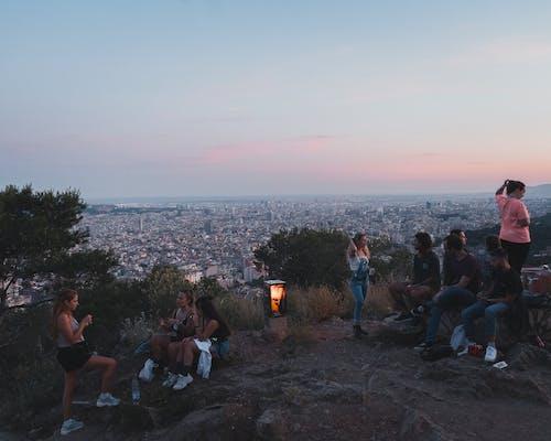 Free stock photo of barcelona, bunker, people
