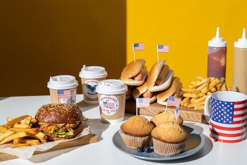 Gratis lagerfoto af 4. juli, Amerikansk flag, amerikansk mad