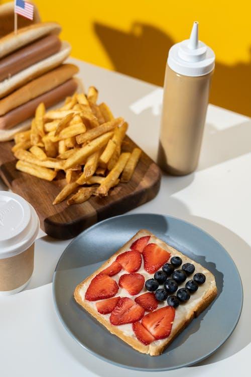 Foto stok gratis bluberi, buah, camilan