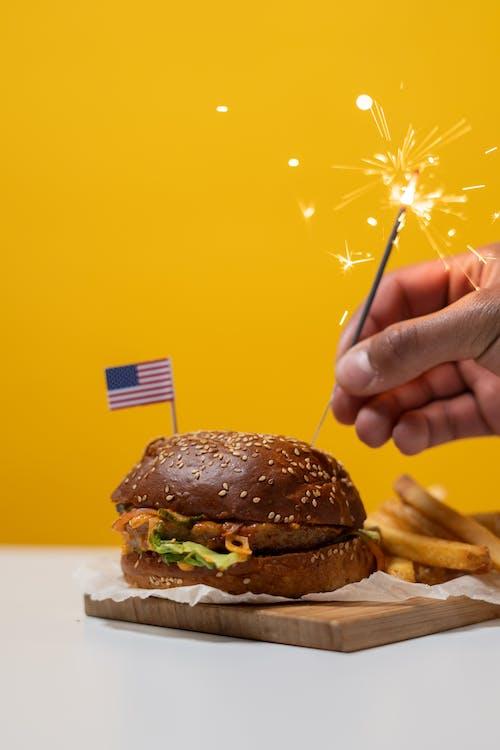 7月4日, アメリカンフード, おいしいの無料の写真素材