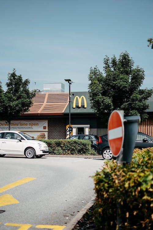 Foto profissional grátis de ao ar livre, arquitetura, árvores, asfalto
