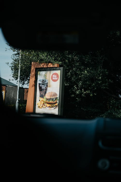 Signboard Of A Meal On A Drive Thru