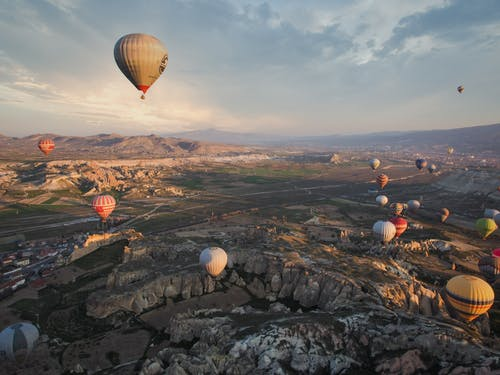 Hot Air Balloons on Sky
