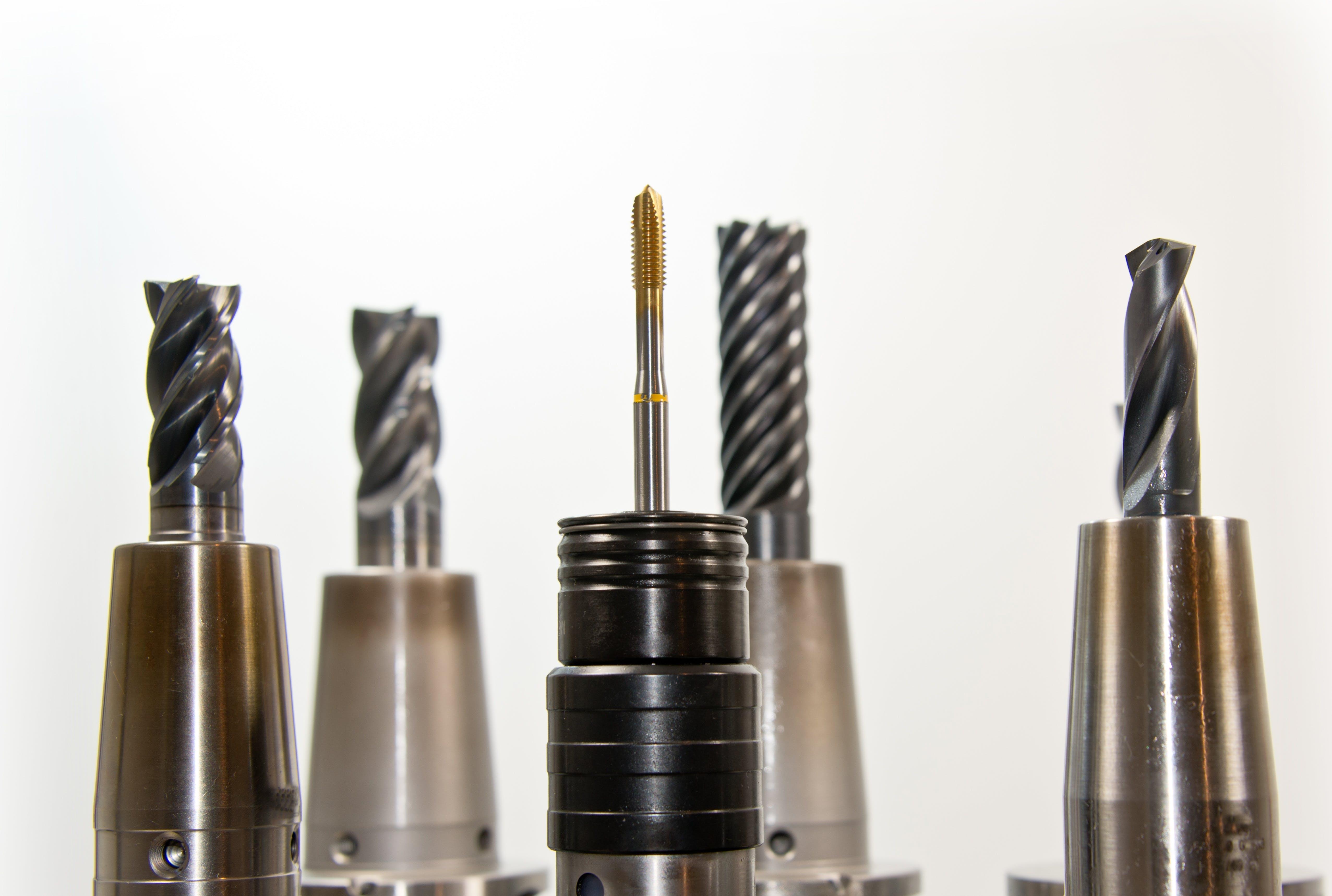 Kostenloses Stock Foto zu metall, werkzeuge, bohren, bohrköpfe