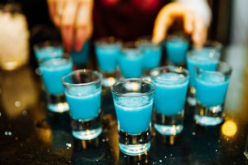 Free stock photo of alcohol, blue, disco, drink