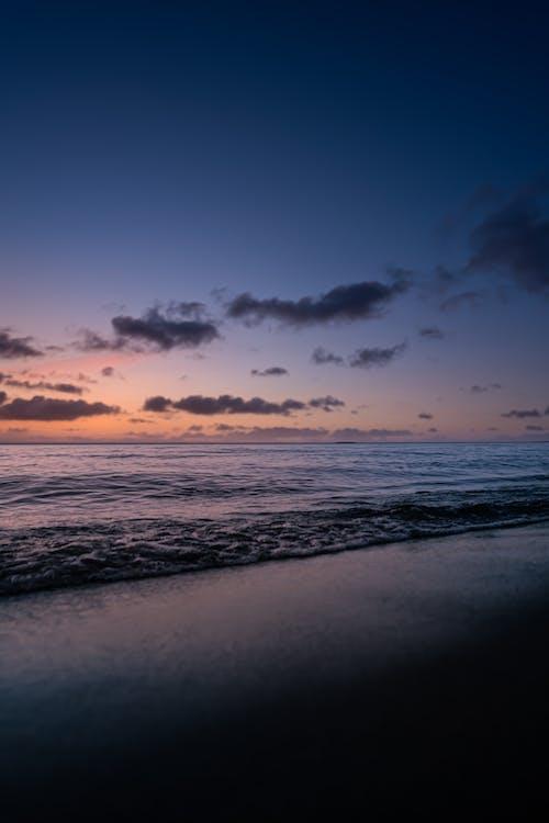 Immagine gratuita di acqua, alba, arancia, arancione