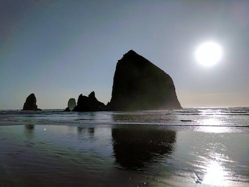 Free stock photo of beach, cannon, cannon beach, light reflection