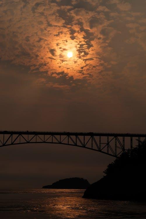 Fotos de stock gratuitas de nubes, puente, puesta de sol