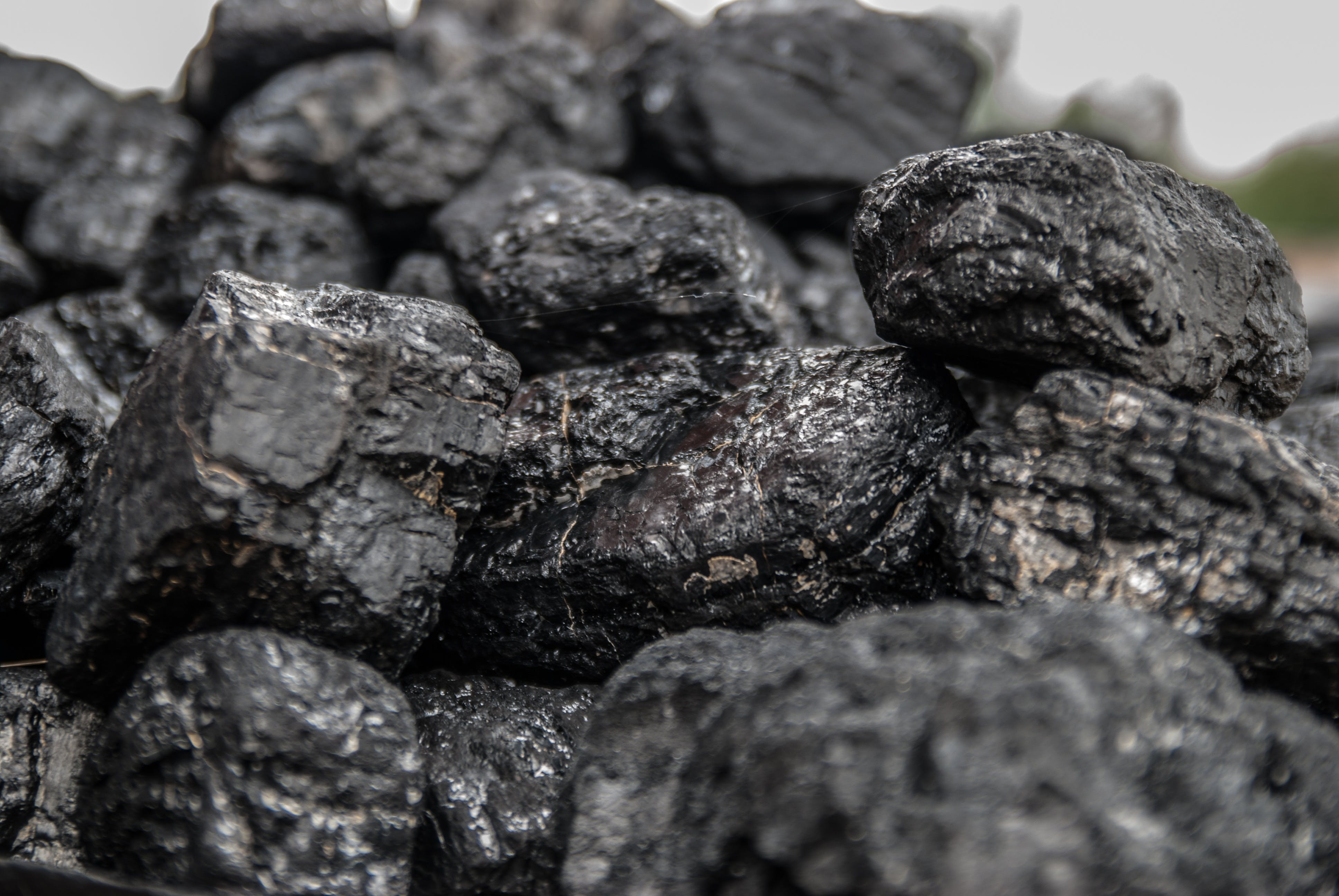 Close-up Photo of Black Stones