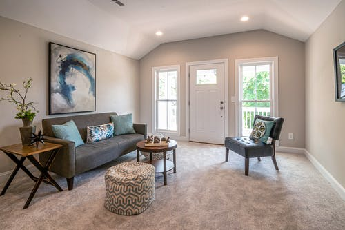 地毯, 安樂椅, 客廳 的 免費圖庫相片