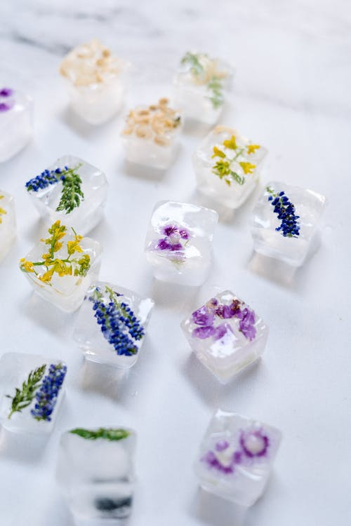 White Yellow and Purple Candy
