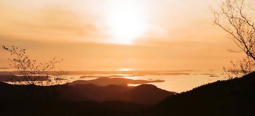 Fotos de stock gratuitas de hermoso atardecer, montañas, noche