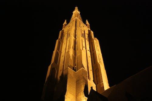 Foto stok gratis Belgium, brugges, cahaya, gelap