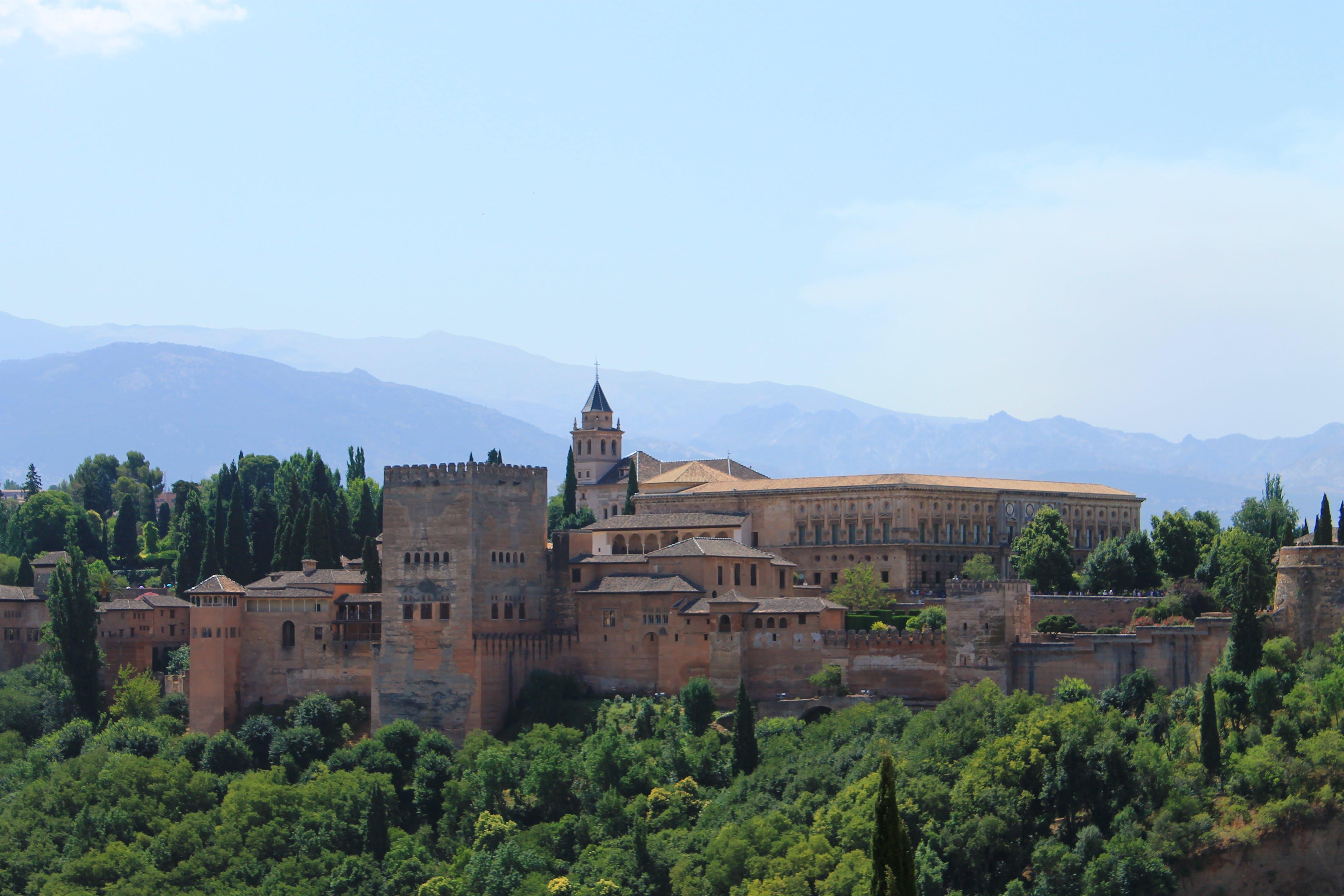 Free stock photo of alhambra, castle, granada, landscape