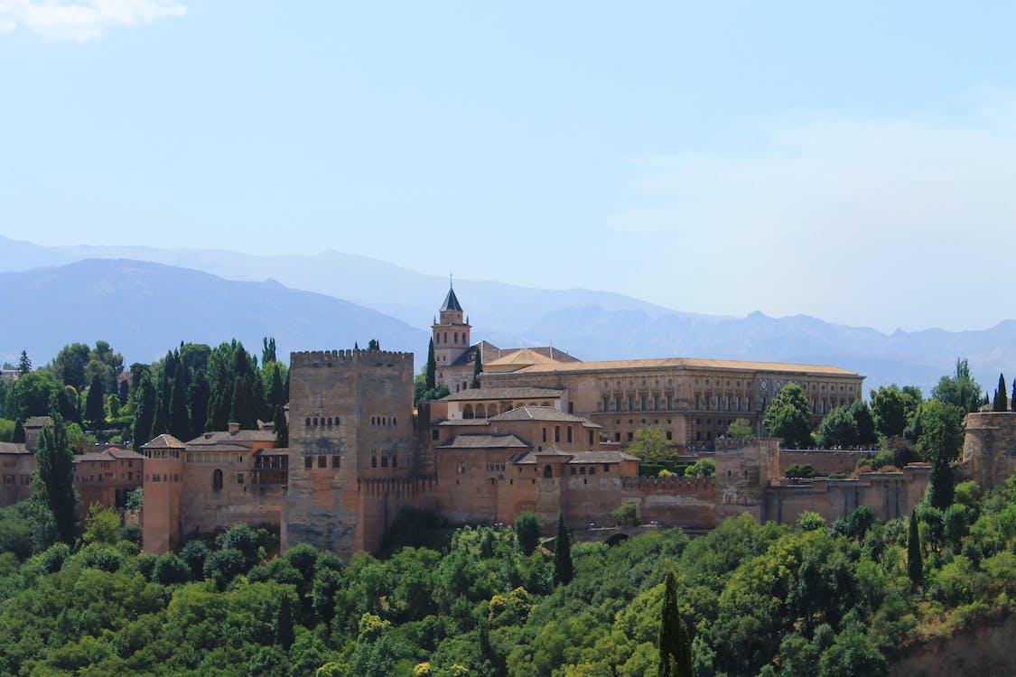 Imagine de stoc gratuită din alhambra, arbori, castel