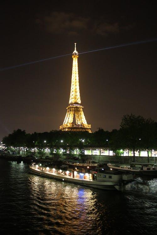 Foto stok gratis menara Eiffel, Paris, Perancis