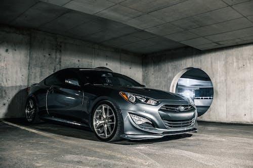Luxury sports car on parking