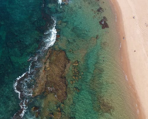 Aerial View of Green Sea