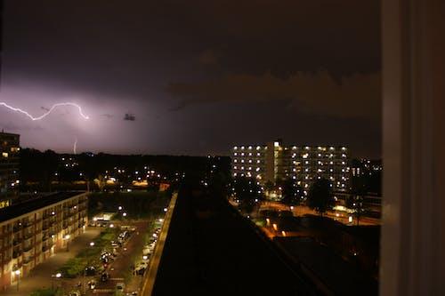 Imagine de stoc gratuită din fulger, noapte